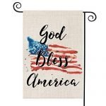 AVOIN God Bless America 4th of July Garden Flag Vertical Double Sided Patriotic Strip and Star American Flag, Memorial Day Independence Day Yard Outdoor Decoration 12.5 x 18 Inch