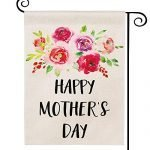 DOLOPL Mother's Day Garden Flag 12.5x18 Inch Double Sided Decorative Happy Mother's Day Watercolor Roses Samll Yard Garden Flags for Mother's Day Outdoor Indoor Decorations
