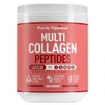 Premium Multi Collagen Powder - 5 Types of Hydrolyzed Collagen Peptides w/Biotin, Hair Skin and Nails Vitamins, Max Absorption, Bone & Joint Support - Types I,II,III,V,X - Easy Mix Unflavored (16 oz)