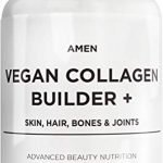 Plant-Based Vegan Collagen Builder Supplement - Organic Whole Foods, Lutein, Vitamin C, Biotin, Lysine, Proline Collagen Boosters - Organic Cranberry, Lemon, Strawberry - Once A Day - 30 Tablets