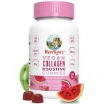 Vegan Collagen Boosting Gummies for Hair Skin & Nail Health by MaryRuth's - Plant Based Supplement w/Lysine Vitamin A, C, Alma Fruit Complex- Animal Peptide & Sugar Free - Watermelon 90 Count