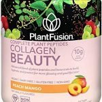 PlantFusion Collagen Beauty Plant Peptides Powder   Vegan Collagen Supplement for Skin Hydration, Elasticity, and More Glowing and Youthful Skin  Gluten-Free, Non-GMO  Peach Mango, 6.35 Ounce