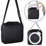 Toyouu Ring Light Carrying Bag,Compatible with 8/10 inches Ring Light,10.23x10.23x2.3 inches Protective Case,Portable Carrying Bag for Camera,Durable Nylon,Light Weight,Black