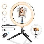 "10.2"" Ring Light with Stand, BlitzWolf LED Ring Light with Stand and Phone Holder for YouTube Video Live Stream Makeup Photography, Dimmable Selfie Ring Light with 3 Light Modes & 11 Brightness Level"